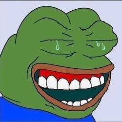 개구리 표정 웃음 눈물 웃는게 아냐 울어 웃으면서 울는 모습 안습 슬픔 슬퍼