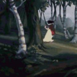 변태를 봤을때 못볼걸 봤어 도망쳐 오징어가 말을 걸때 백설공주 애니메이션 디즈니
