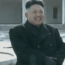 북한 김정은 손가락 질하면서 웃는 모습 움짤