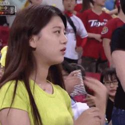 녀 시리즈 기아녀 야구 응원녀 관중 예쁜 여자 ㅊㅈ 女