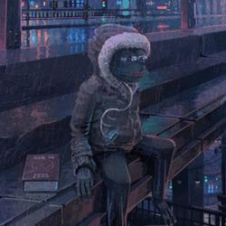 슬픈 개구리 짤방 슬개짤 안습 눈물 비오는날 움짤 비내리는 다리위
