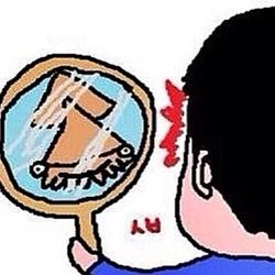 거울 오징어 짱구 못생김 만화 내얼굴 니얼굴