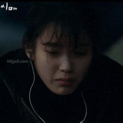 드라마 아이유 이지안 나의 아저씨 나저씨 나의아저씨 눈물 이어폰 슬픔 우는모습