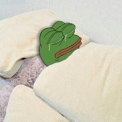 슬개짤 슬픈개구리 개구리 눈빛 눈믈 안습 우울 슬픈 침대 이불