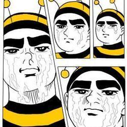 눈물 안습 만화 꿀벌 남자 슬픔 병맛 줄줄 눈물흘리는