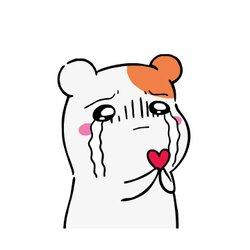 에비츄 눈물 하트 사랑 울음 고백