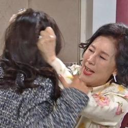 머리채 싸움 막장 머리채잡기 분노 열받아 화남 시월드 시어머니
